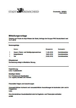 Mitteilungsvorlage 15/2074