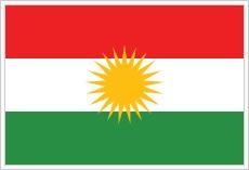 Flagge von Kurdistan