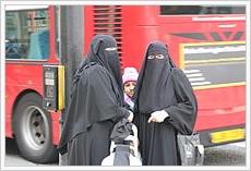 Niqab-Trägerinnen